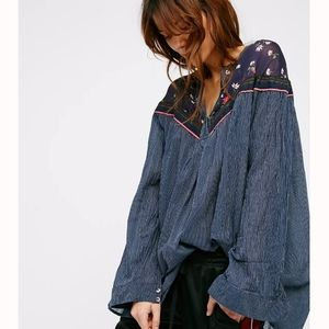 Free People Hearts and Colors Long Sleeve Shirt